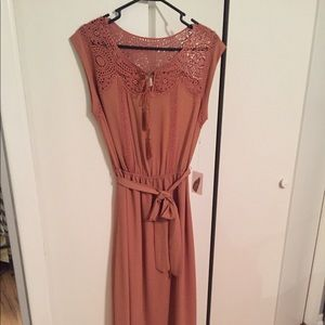 New with tags burnt peach/salmon dress